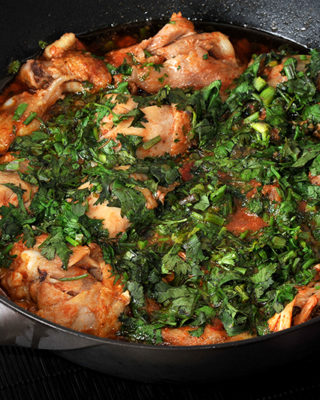 Chicken with Herbs (Chakhokhbili)