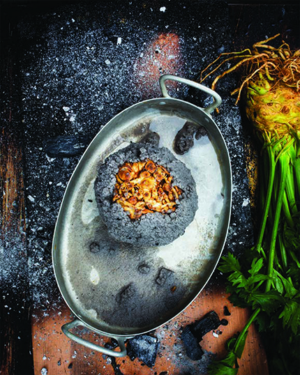 Photograph of Salt and Ash Baked Celery Root by Stefan Wettainen