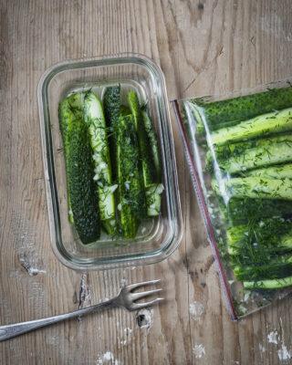 Twenty-Minute Pickles (Малосольные огурцы за 20 минут)