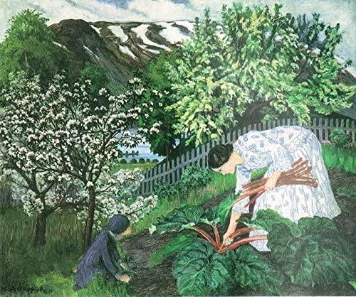 Nikolai Astrup (1880–1928), Rabarbra (Rhubarb) (1911), oil on canvas, 93 x 110 cm, Bergen Kunstmuseum, KODE, Bergen, Norway. Wikimedia Commons.