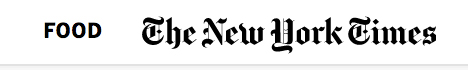 NYT Food Section header